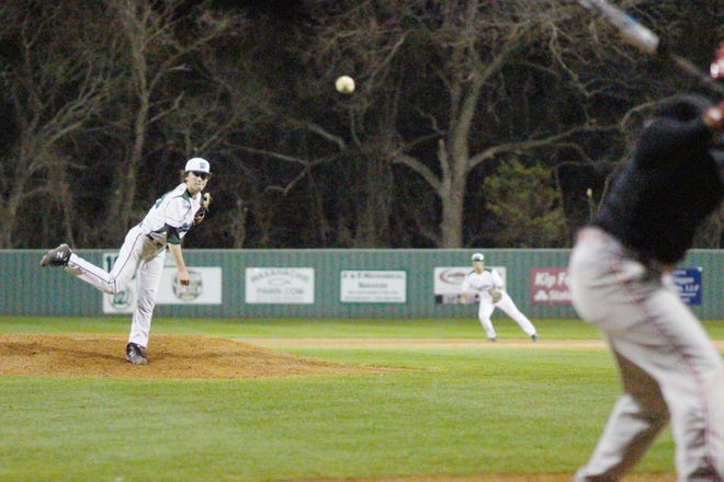 Waxahachie's Casey Kelley pitches during a game at Richards Park last season. Kelley pitched a five-inning complete-game shutout on Tuesday night as the Indians blanked Waco High, 12-0.