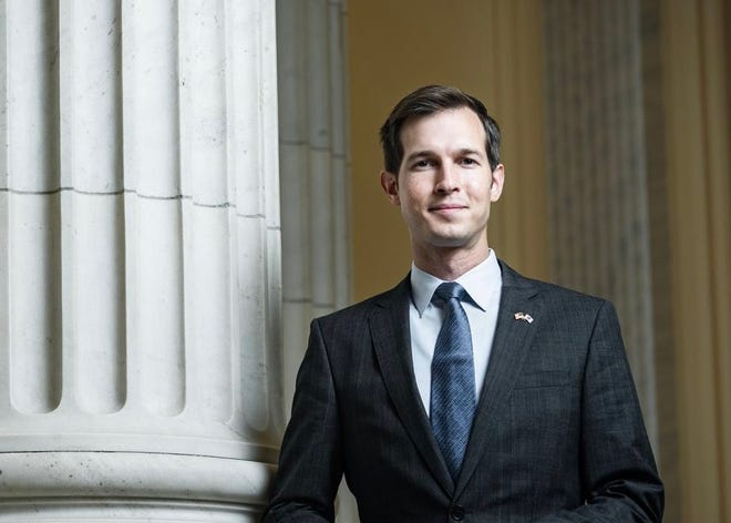 The Needham Area Immigration Justice Task Force will host a short presentation and question and answer session with new U. S. Representative Jake Auchincloss at 7:15 p.m. May 10.