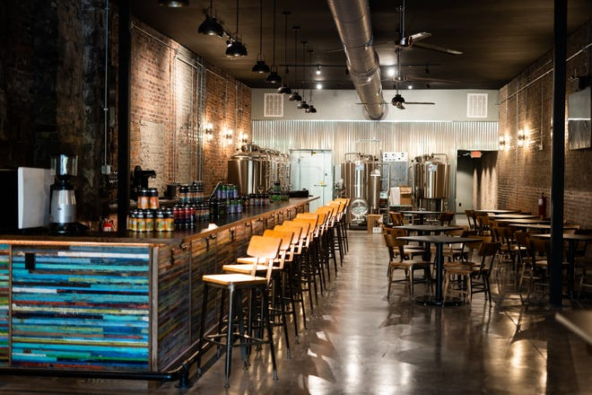 D9 Brewing Company's most recent location opened up in Hendersonville last week. The inside is pictured before the microbrewery/taproom opened for the day on Friday.