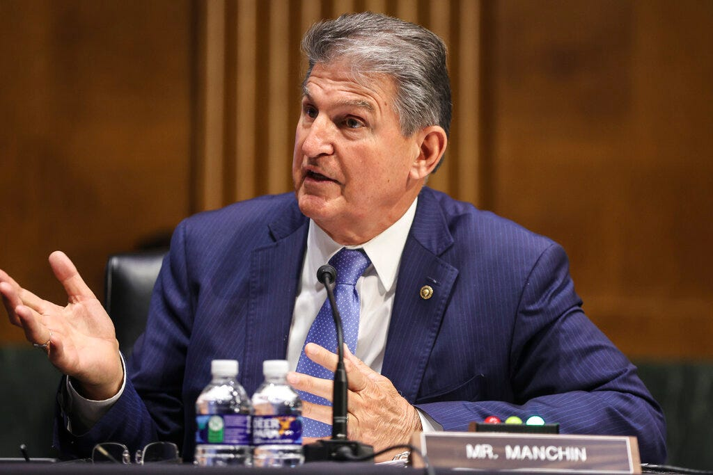 Manchin says Biden should focus on 'conventional' infrastructure 1