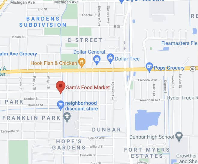 Fort Myers Police search for stabbing suspect after incident at Sam's Food Mart on Friday, April 23, 2021.