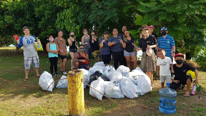 In honor of Earth Day, Coral Sea Real Estate completed a coastal cleanup on April 17 at Ypao Beach in Tumon.