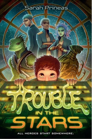 "The cover of  local middle-grade author Sarah Prineas' new science fiction book, ""Trouble in the Stars,"" set to publish on Tuesday, April 28, 2021."