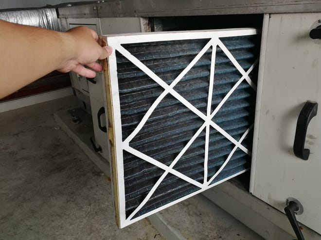 Most professionals suggest having the HVAC system professionally inspected and serviced at least two times a year.