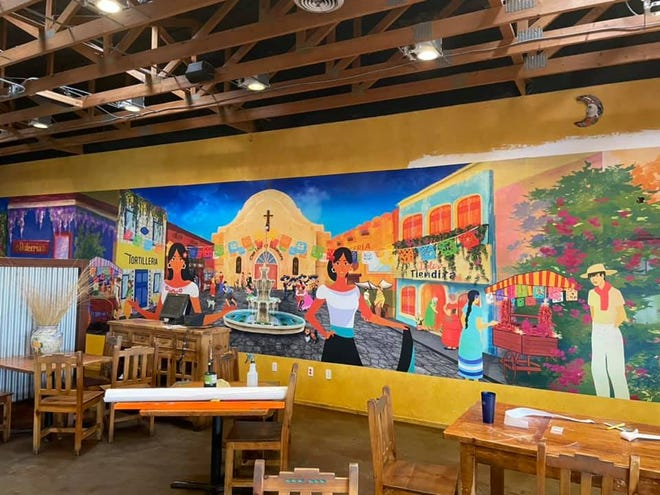A digitally printed wall mural at Chilitos on Foothills Road was commissioned from Las Cruces-based business Wall Candy.