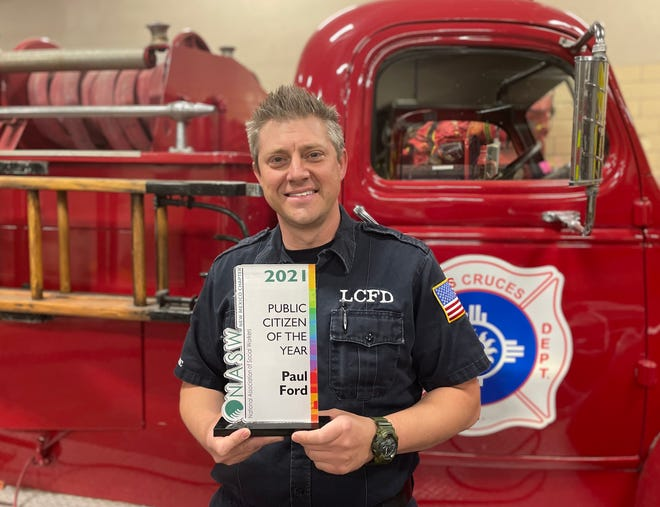 Las Cruces firefighter Paul Ford, a paramedic and coordinator for the department's Mobile Integrated Health program, was recognized as the 'New Mexico Public Citizen of the Year' by the New Mexico Chapter of the National Association of Social Workers.