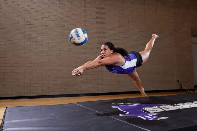 Former Basha volleyball player is finishing up the beach volleyball season playing as a graduate transfer at Grand Canyon. Photo courtesy of GCU Athletics