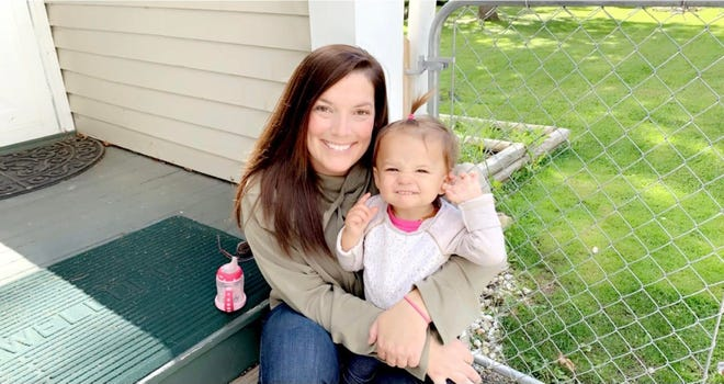 Alyssa Huffman, pictured with her daughter Eleanor, is an ICU nurse at McLaren Port Huron.