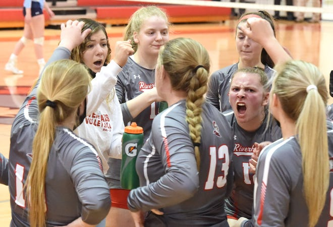 Riverheads volleyball played in the Class 1 state championship Friday, April 23,