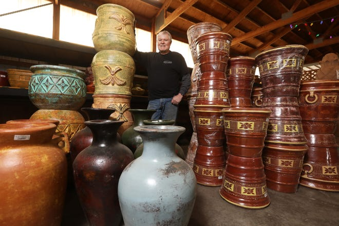 Kim Castor runs Zanesville Pottery. He took over the family business from his father Don.