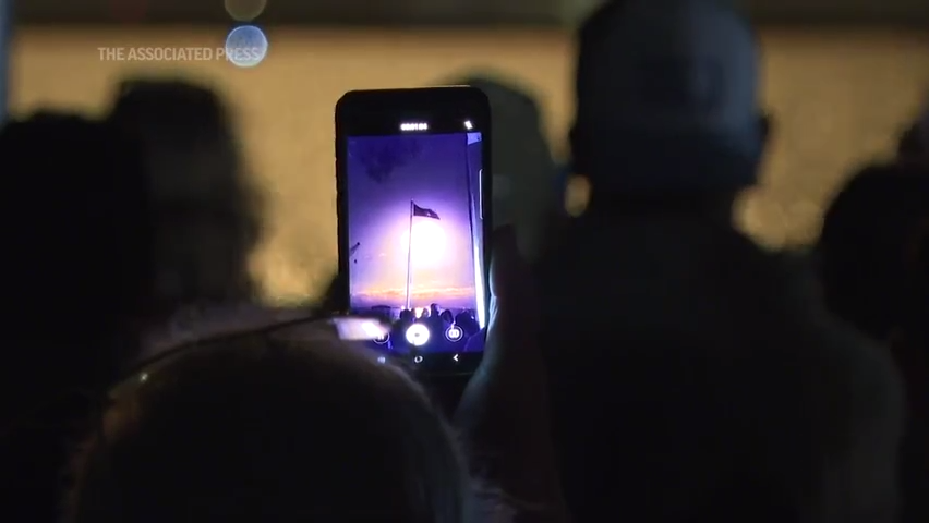 Spectators watch third crewed SpaceX launch