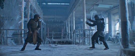 "Old foes, new faces. Scorpion (Hiroyuki Sanada) and Sub-Zero (Joe Taslim) face off in the finale of ""Mortal Kombat."" Despite the ice, it got hot."