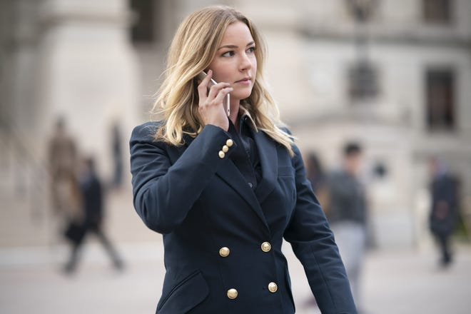 "Emily VanCamp as Sharon Carter on ""The Falcon and the Winter Soldier."""