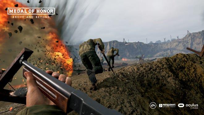 Une capture d'écran du jeu vidéo «Medal of Honor: Above and Beyond».