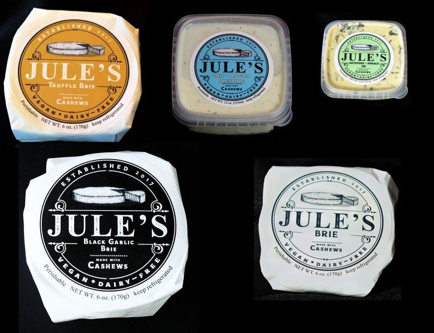 Jule's Foods recalls cashew brie, other vegan and plant-based products over possible salmonella contamination
