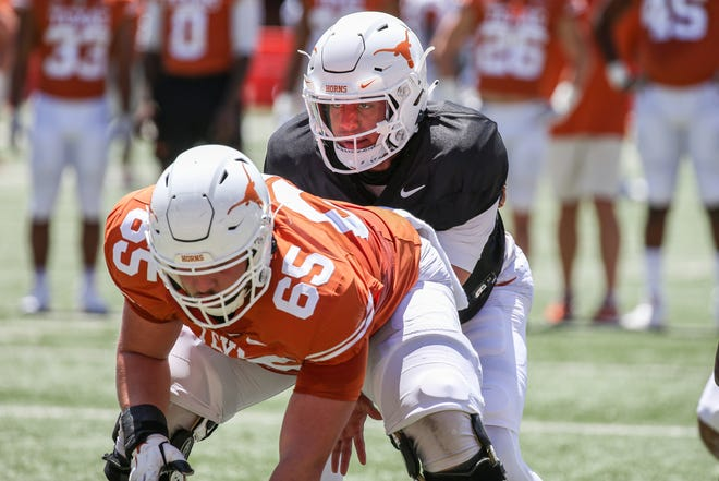 Texas quarterback Casey Thompson has yet to start a game, but has more experience than redshirt freshman Hudson Card. He played well Saturday in the Orange-White spring game, but had a big faux pas with a pick-six thrown in the red zone.