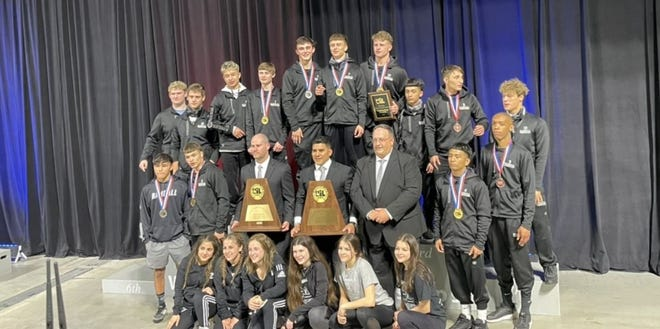 The Randall boys and girls won the UIL 5A State Team Championships on Friday night at the Berry Center in Cypress.