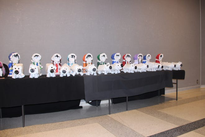 """The students from First United Methodist Church Preschool were named the group project winners of Ardmore Beautification Council's Recycled Art Contest. The school's project entitled """"Polar Bears, Penguins and Eskimos!"""" is on display at the Goddard Center."""