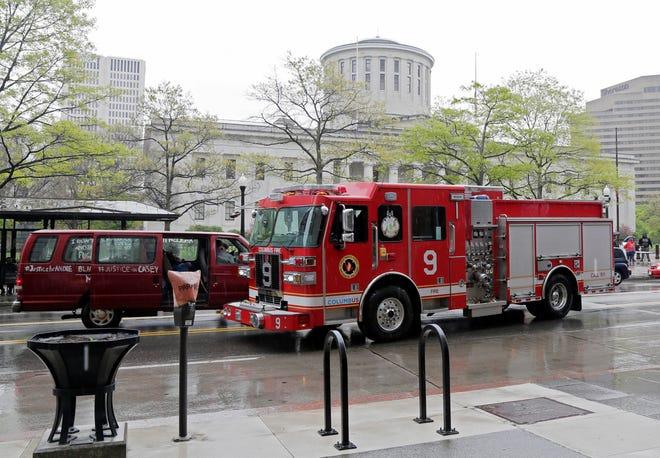A Columbus fire truck