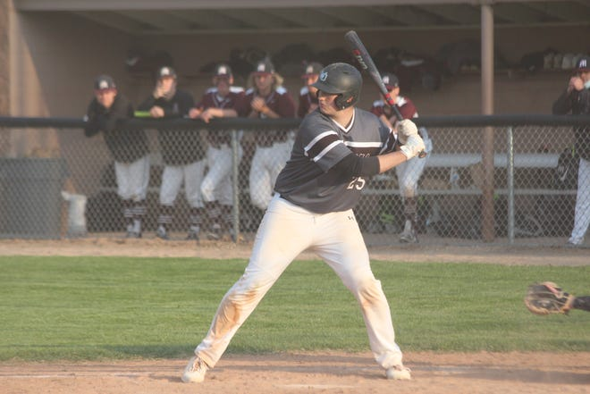West Ottawa senior Dakota Shafer gets ready to swing the bat during game two of a doubleheader with Holland Christian