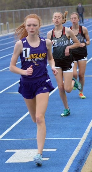 Kendall Coombes of Douglass won the 3,200-meter run at the 50th Conrad Nightingale Invitational.