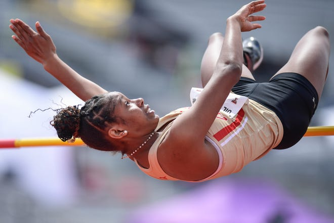 Coronado's Bryanna Craig clears the high jump at the Region I-4A and 5A track and field meet April 23 at PlainsCapital Park at Lowrey Field. The event was the last for sports reporter Alexis Cubit, who accepted a job covering Clemson University for The State newspaper in South Carolina.