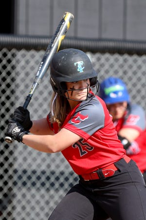 Crestwood's Maci Head at bat during Friday night's game against Independence.