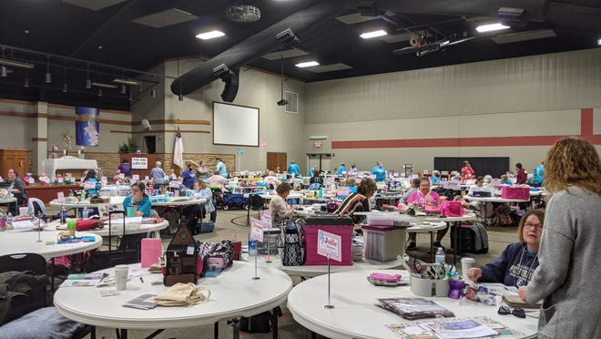 Over 40 people came to take part in the Crop, Craft and Quilt event Friday and Saturday at Trinity United Methodist Church in Salina. The annual event is one of many fundraising opportunities for the Love, Chloe Foundation.