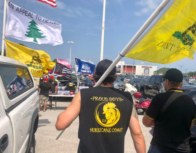 """The far right Proud Boys group was represented at a recent """"Save America Patriot Rally"""" in Bradenton. A Proud Boy from Bradenton was charged with assaulting an officer while participating in the Jan. 6 insurrection at the U.S. Capitol."""