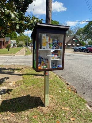 The completed blessing box at Boys and Girls Club of Humboldt was filled immediately.