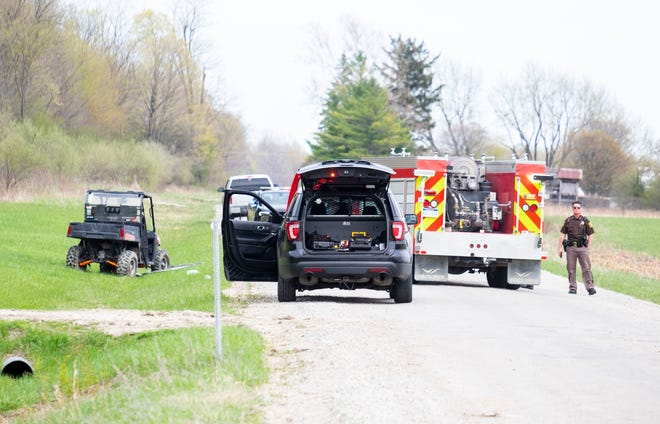 One person was killed and another injured in a UTV crash Saturday, April 24, 2021, in Greenwood Township.