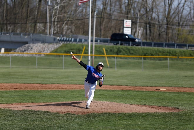 Hagerstown senior pitcher threw five shutout innings against Winchester Community on Thursday, April 22, 2021.