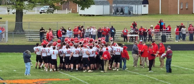 Riverheads celebrates beating West Point Saturday in the Class 1 state football semifinals.