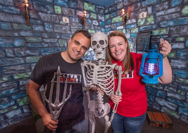 David and Katie McAllister have opened Clevr Escape on West Main Street in Downtown Visalia. They offer four live escape rooms and other virtual entertainment.