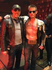 """Director Garrett Warren and Casper Van Dien as Johnny Cage during """"Mortal Kombat X: Generations."""""""