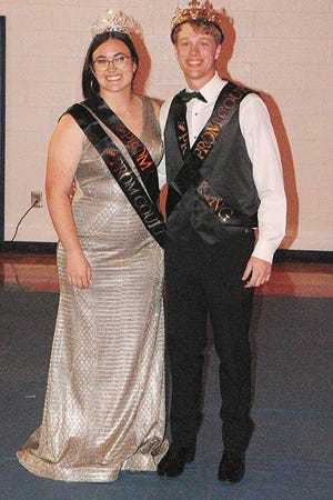Named Mapleton High School prom queen and king on Saturday were Arajh Bosel, and Calvin Vermilya. The theme of the event was Roaring '20s. TONY ORENDER, TIMES-GAZETTE.COM