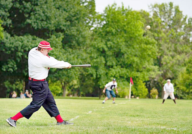 Boonville will host a 1860 Baseball Game on Saturday, May 1 at Twillman field in Harley park, starting at 1 p.m. The St. Louis Browns Stockings will play the Topeka Westerns in a doubleheader, featuring players dressed up in 1860 style uniforms.