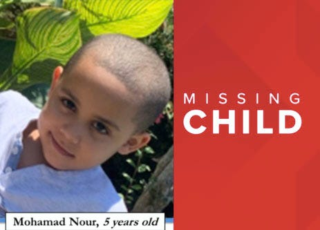 Mohamad Waleen Mohamad Nour, age 5
