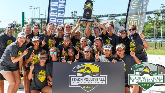 The University of North Florida won the ASUN beach volleyball championship on Sunday at Stetson University.