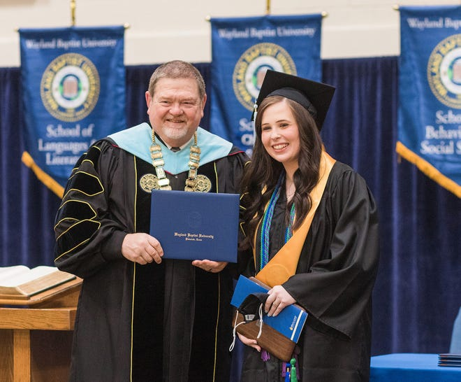 Brooke Vickers, an elementary education major from Monticello, Fla., was recognized as the highest ranking graduate for the class of 2021.