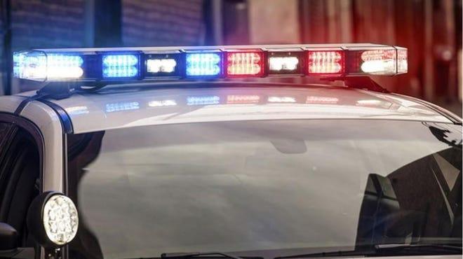 Stock police lights photo
