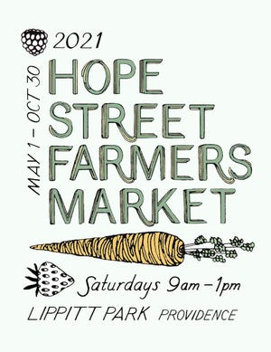 A poster for Providence's Hope Street Farmers Market.