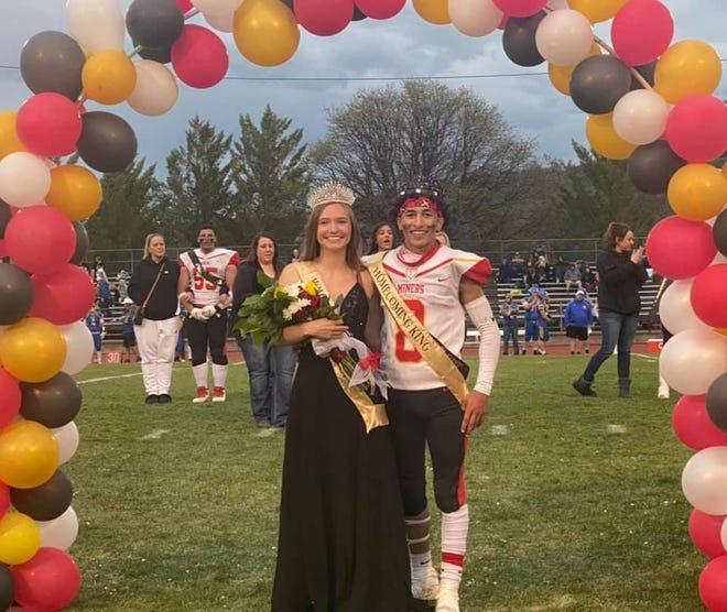 Yreka High School Homecoming queen Reagan Bonnell and king Davon Ruiz.