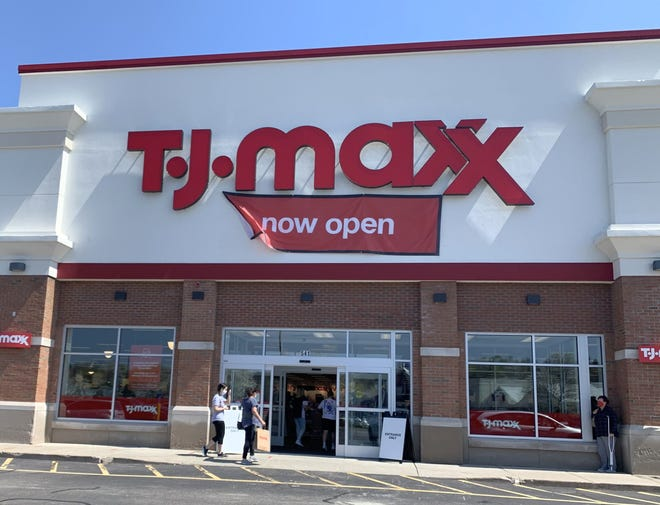 Shoppers head into the newly opened TJ Maxx location at Lincoln Plaza in Worcester Saturday.