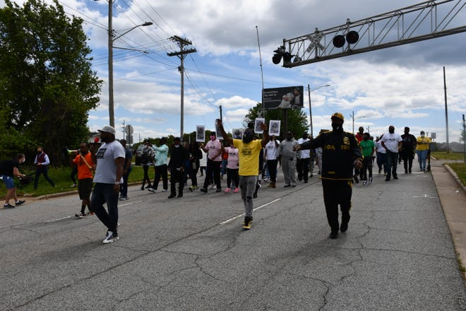 Dozens of community members from throughout High Point came out for Sunday's march. The march was celebration of Fred Cox's life and the outcome of the Chauvin trial.
