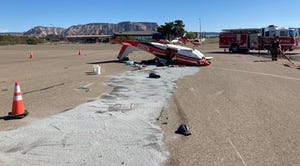 A plane occupied by two people from Gilbert crashed upon landing at Sedona Airport on April 25, 2021.