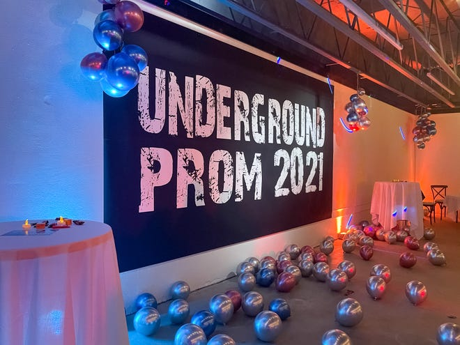 Lincoln High School dubbed their prom event 'Undergound Prom.'