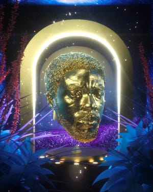 NFT artwork created by artist Andre Oshea to honor the late Chadwick Boseman.