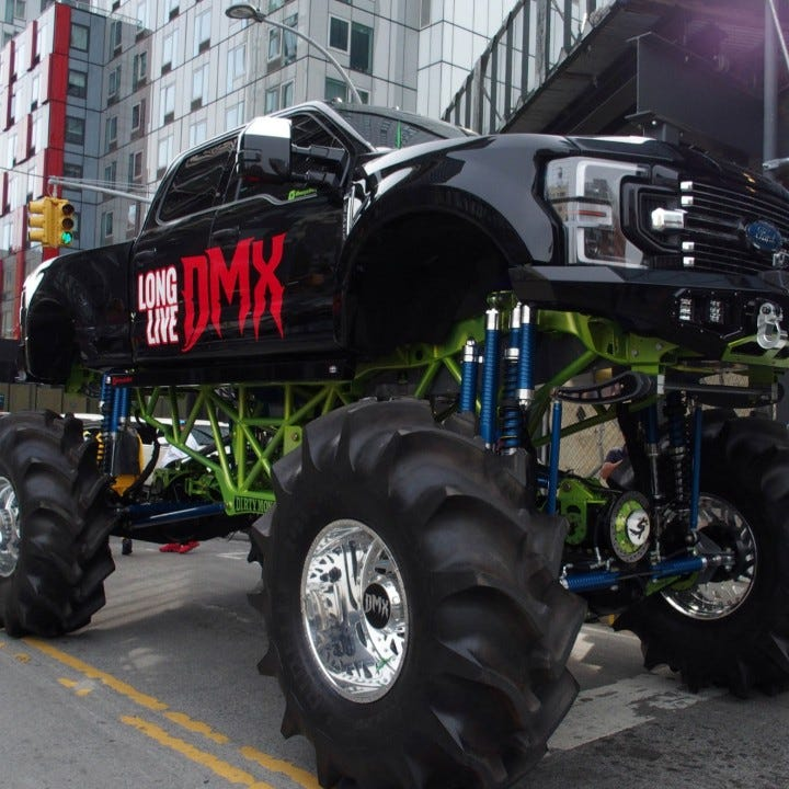 Monster truck carries rapper DMX through streets of New York for final ride