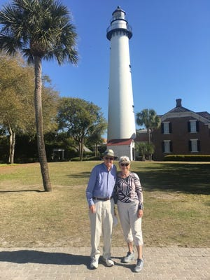 Dick and Nancy Dotson of Hudson, are pictured in St. Simon Island, Georgia. The Dotsons spend their winters in Florida and received their COVID-19 vaccines there.